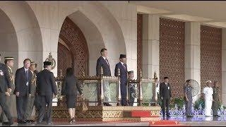 Chinese President Welcomed at Ceremony Hosted by Brunei