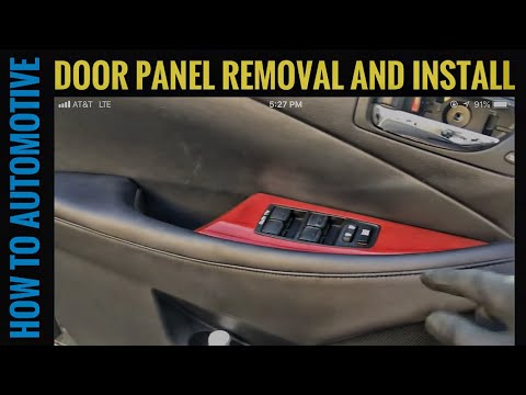 How to Remove and Install the Front Door Panel on a 2009-2012 Lexus ES 350