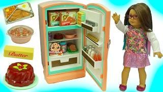 American Girl Fridge Playset Maryellen's Refrigerator \u0026 Food Set with Shopkins Surprise