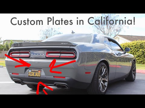 How to CUSTOMIZE your license plates in Cali! (Plate reveal