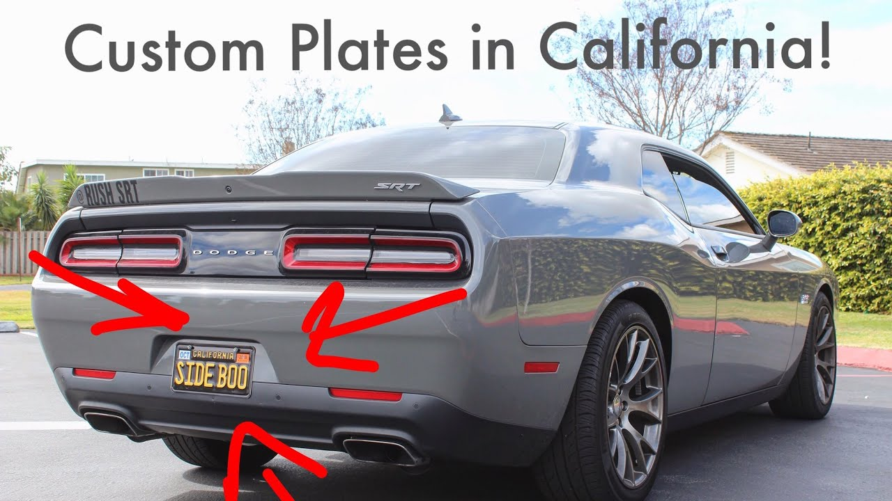 How To Customize Your License Plates In Cali Plate Reveal
