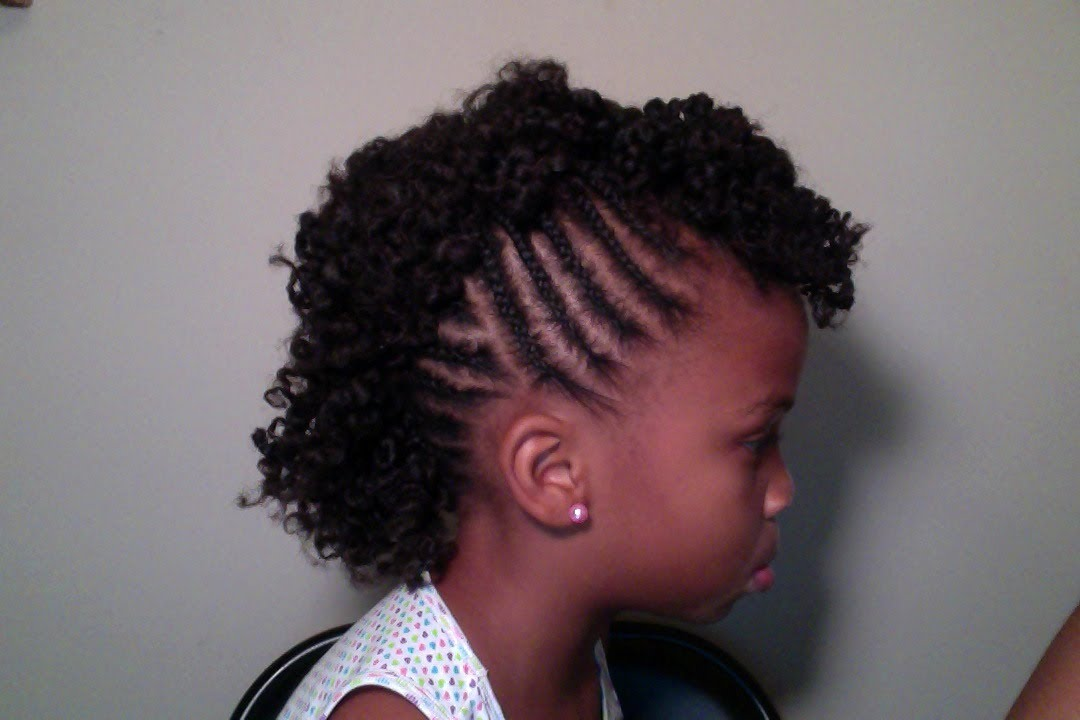 Child's Natural Hair Mohawk YouTube