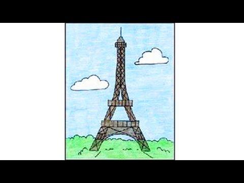 تعلم رسم برج إيفل Youtube