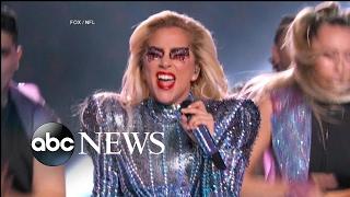 Lady Gaga Super Bowl Half Time Show Highlight...