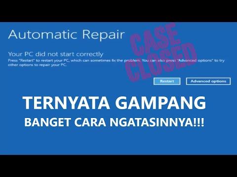 ✔ Cara Mengatasi Automatic Repair - Your PC did not start correctly