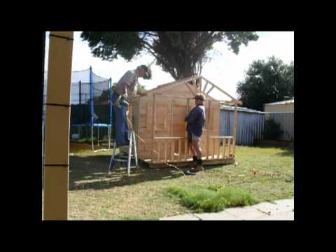 How to build a cubby house in two hours youtube for How to build an a frame home