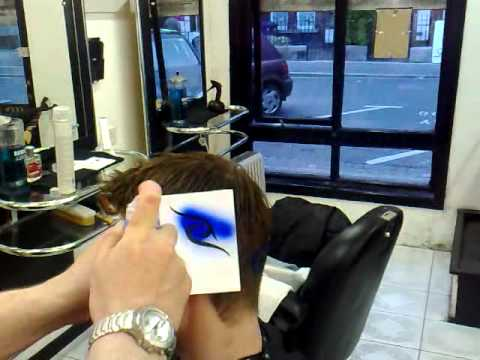 hair tattoo stencil -extreme barber