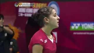 Yonex Sunrise Hong Kong Open 2015 | Badminton F M2-WS | Carolina Marin vs Nozomi Okuhara
