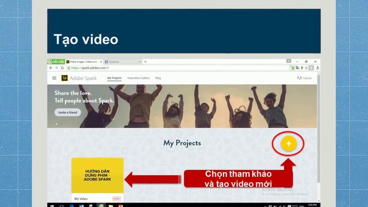 CNTT_Hướng dẫn sử dụng Adobe Spark Video
