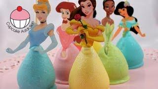 Cake Pops! PRINCESS CAKEPOPS! Make Princess Party Cake Pops - A Cupcake Addiction How To Tutorial