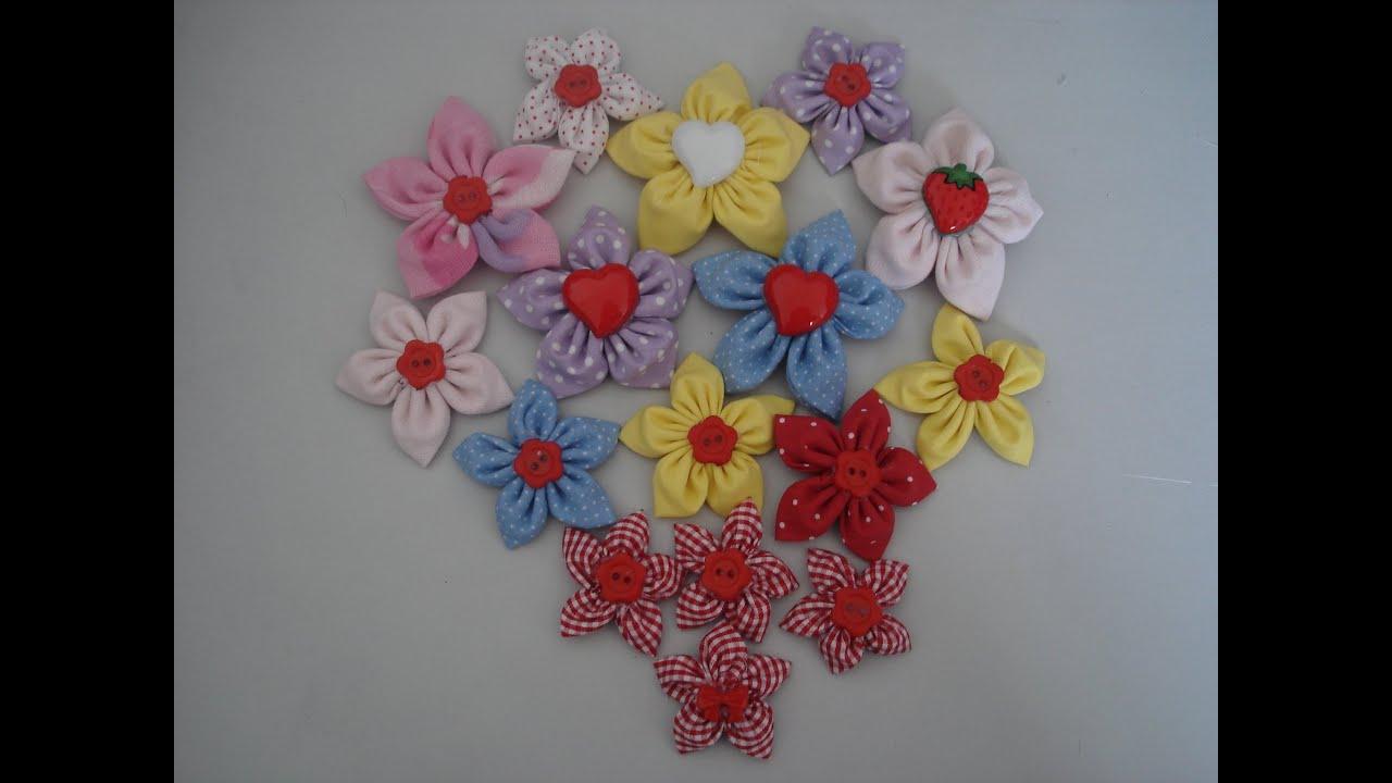 Bolsa De Fuxico Passo Apasso : Fuxico flor de pontudinha passo a