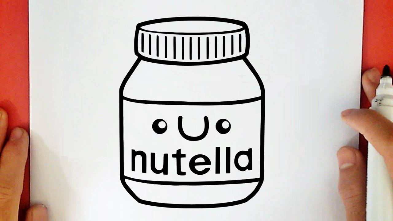 Coloriage Kawaii Nutella.Comment Dessiner Nutella Kawaii Youtube