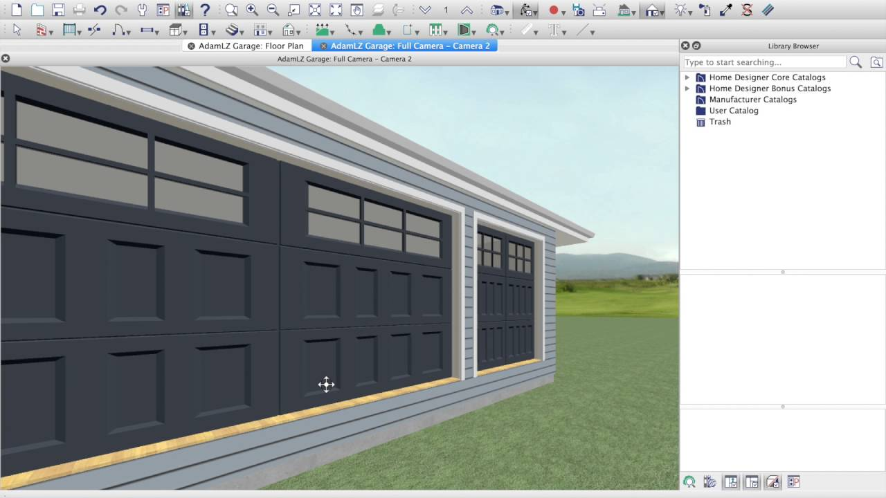 designing adam lz's garage: video 2 - using home designer software