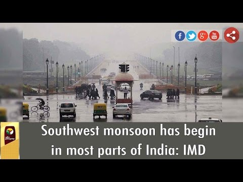 Southwest monsoon has begin in most parts of India: IMD