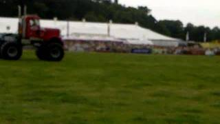 Big Pete jumping over cars, Monster Trucks, Nantwich Show 2011