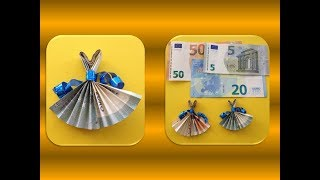 DIY ORIGAMI MONEY EASY GIFT IDEAS; GELDSCHEIN GESCHENK - IDEEN
