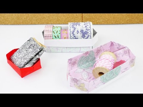 Aufbewahrung Falten Einfach Origami Anleitung Für Kinder Diy