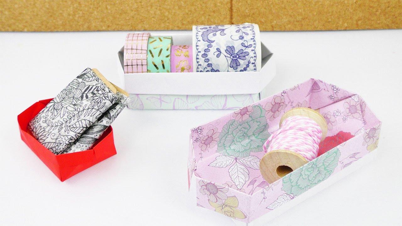 aufbewahrungs kiste falten einfache origami anleitung f r kinder basteln mit kindern youtube. Black Bedroom Furniture Sets. Home Design Ideas