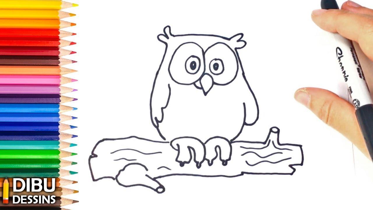 Comment Dessiner Un Hibou Dessins Faciles