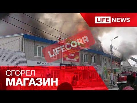 На рынке в Черкесске сгорел магазин «Магнит»