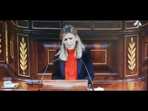 Las lágrimas de Yolanda Díaz en la despedida de Pablo Iglesias del Congreso