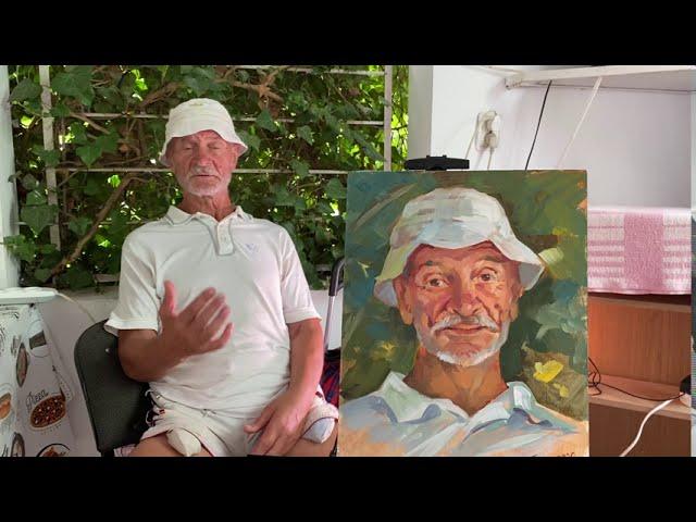Портрет с натуры. Картон/масло