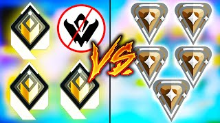 Valorant: 3 Radiant VŠ 5 Bronze Players, But the Radiant CANT USE ABILITIES! - Who Wins?