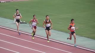 長嶋幸宝選手が8:39.44で1着&後続のランナーにアクシデント発生!男子3000m予選4組、全中陸上2019大阪。