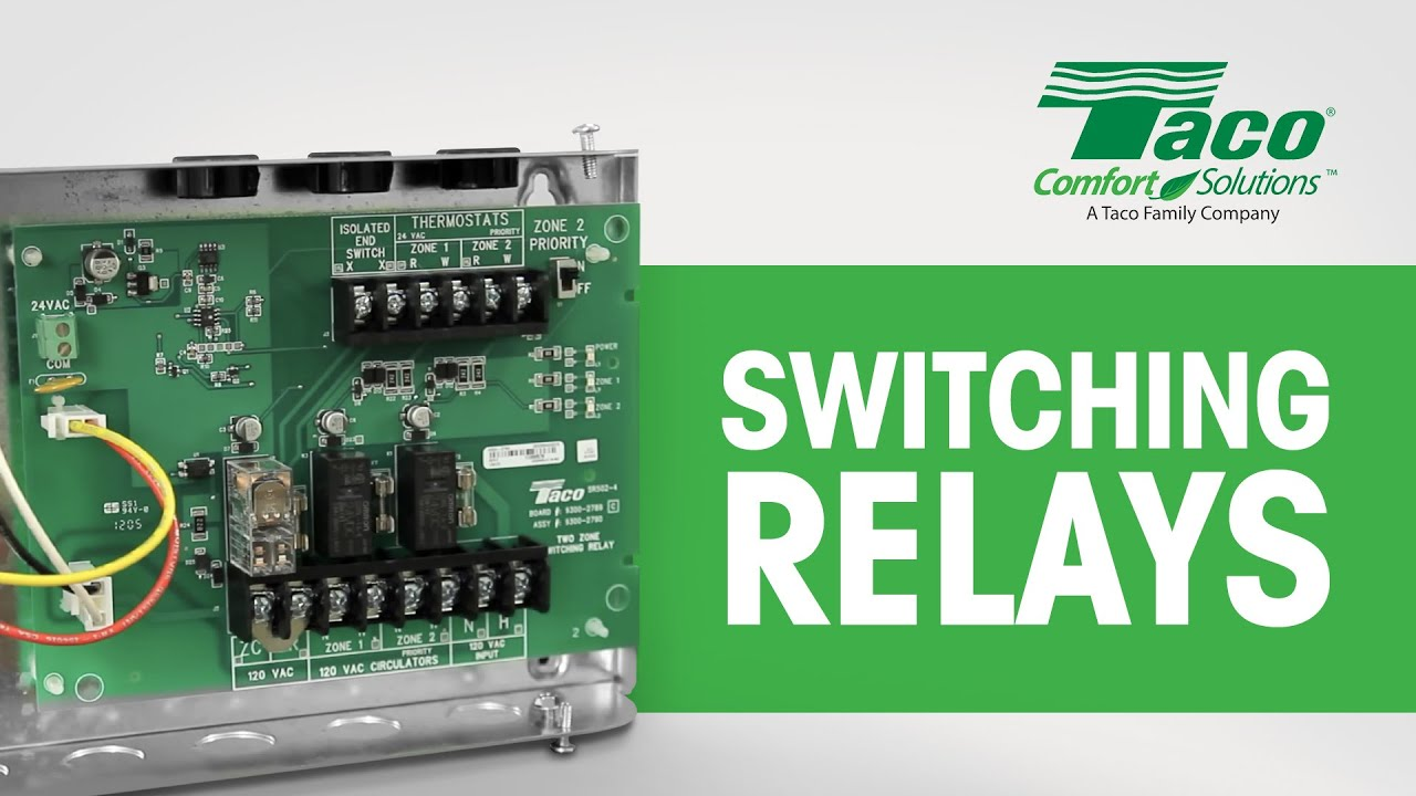 White Rodgers 3 Wire Zone Valve Wiring Diagram Gfci Receptacle Taco Switching Relays - Youtube