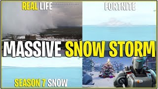 *NEW* MASSIVE SNOW STORM IN MAP RIGHT NOW..! *Season 7 Snow?* (Fortnite)