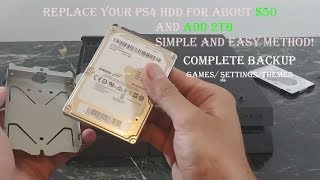 HOW-TO Replace PlayStation 4 Hard drive easily and cheap