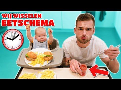 1 DAG VAN EETSCHEMA WISSELEN MET EEN BABY! *Challenge*
