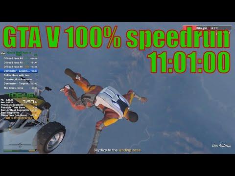GTA V 100% 11:01:00 speedrun