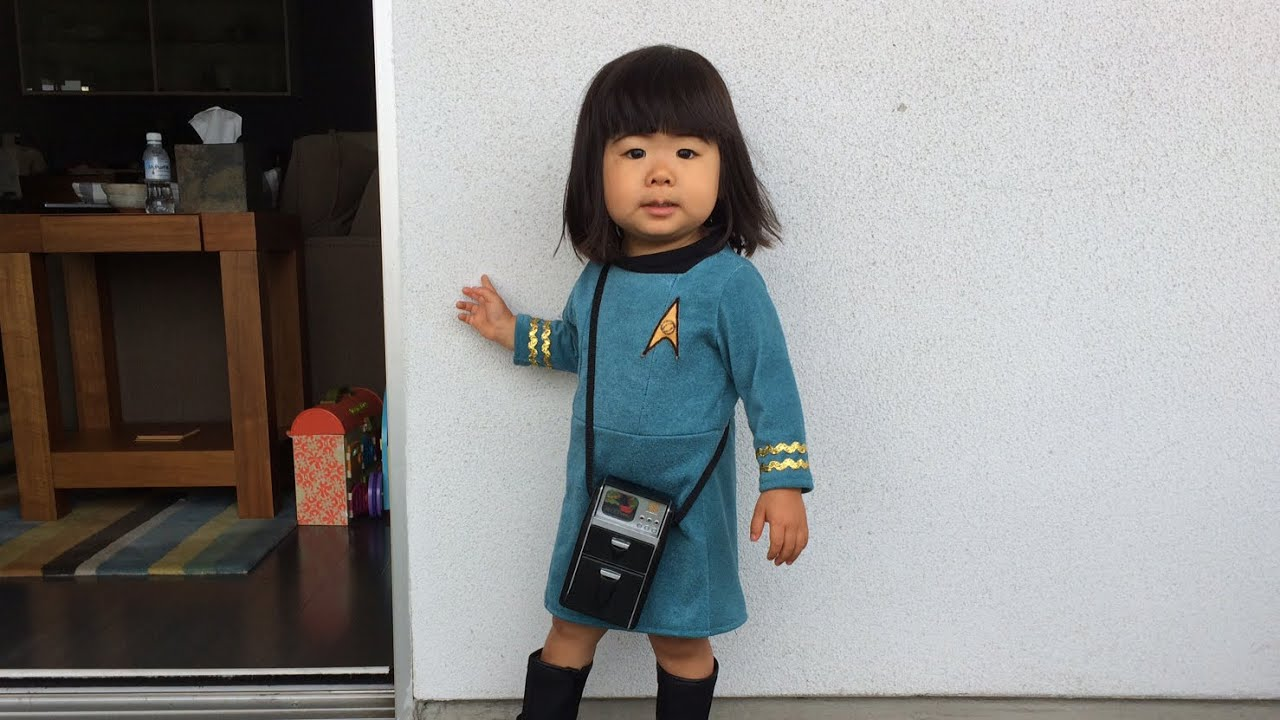 How to Make a Baby Star Trek Costume Part 2 Cutting and Sewing  sc 1 st  YouTube & How to Make a Baby Star Trek Costume Part 2: Cutting and Sewing ...