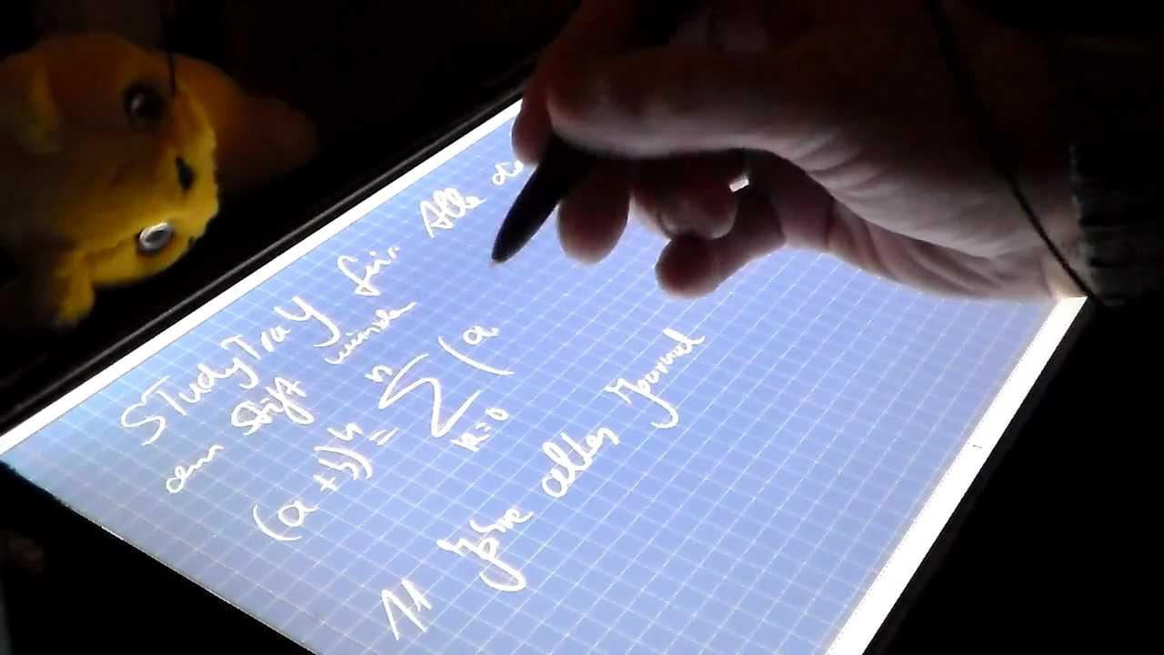Surface Pro with WACOM Pen Stift kiPAD STudyTraY digital ...