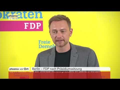 Pressekonferenz nach der Präsidiumssitzung der FDP am 19.02.18