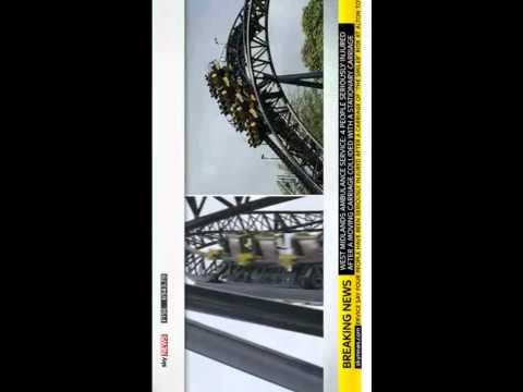 Alton Towers Rollercoaster Crash 16 On Board, 2 Carriages Collide Alton Towers 'Smiler' Ride  VID
