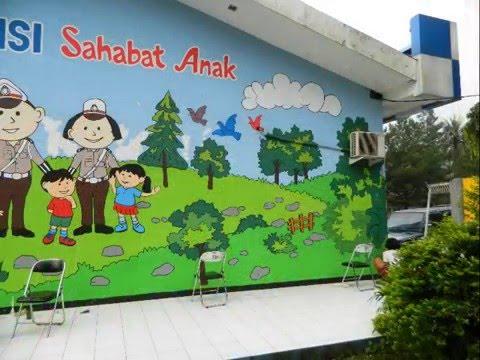 Jasa lukis dinding tk lukis tembok paud sekolah youtube for Contoh lukisan mural tadika