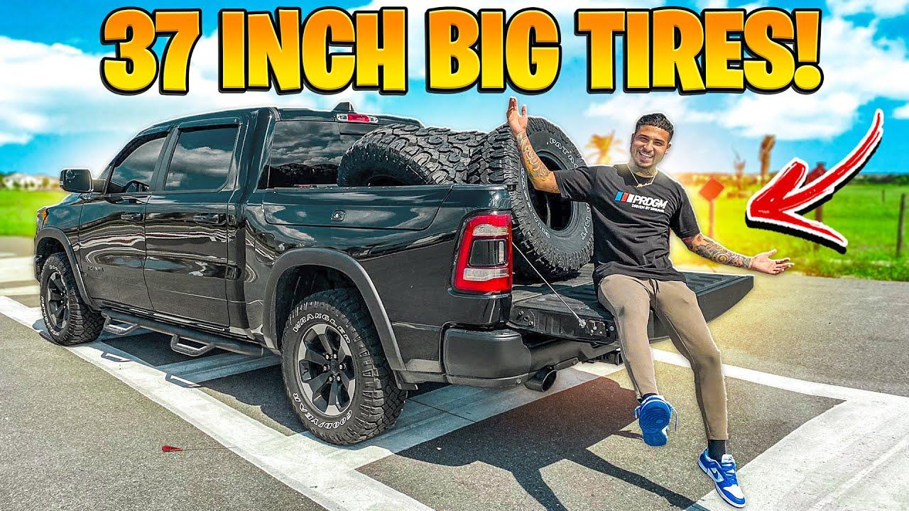 BUYING BIG 37 INCH TIRES FOR MY NEW RAM REBEL ! ( CRAZY BIG ) | BRAAP VLOGS