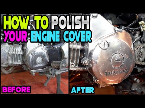 Pano i chrome polish ang engine cover ng motorsiklo | Honda XRM125