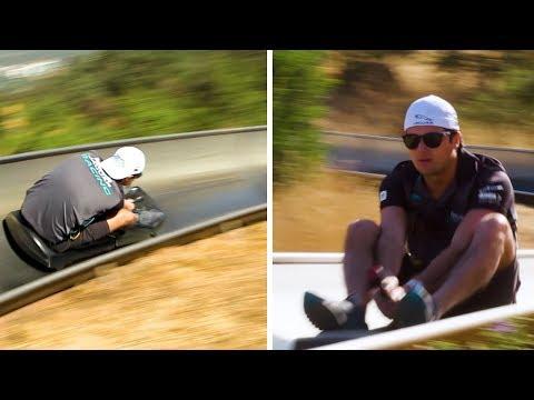 Toboggan Race at 30°? Piquet v Evans - Jaguar Racing | ABB Formula E
