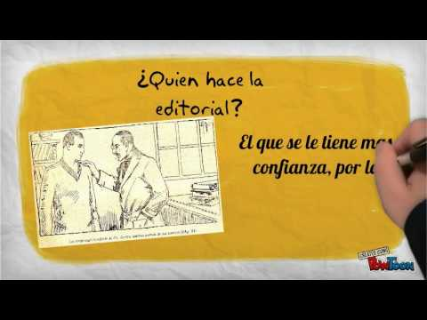 Como hacer una editorial youtube for Como organizar un periodico mural
