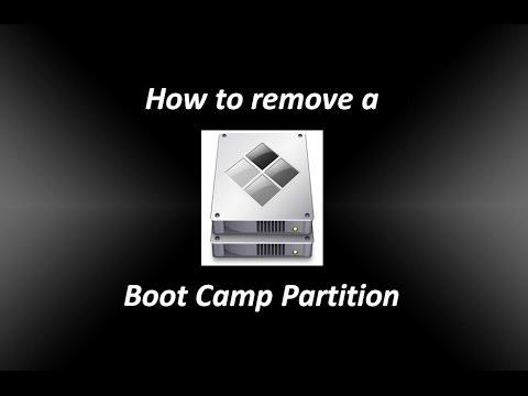 how to delete bootcamp parititon