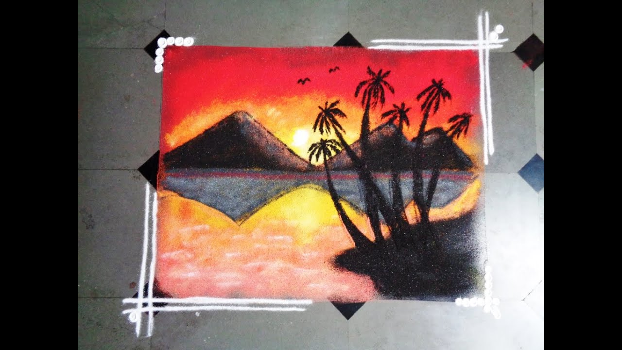 How To Make Nature Rangoli
