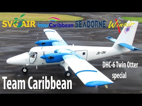 Epic !! Twin Otter Special from Team Caribbean !!! Winair, InterCaribbean, Seaborne, SVG Air...