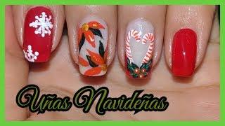 DECORACION DE UÑAS FACIL PARA NAVIDAD ♥♥♥ CHRISTMAS NAIL ART ♥♥♥ Andy Lo