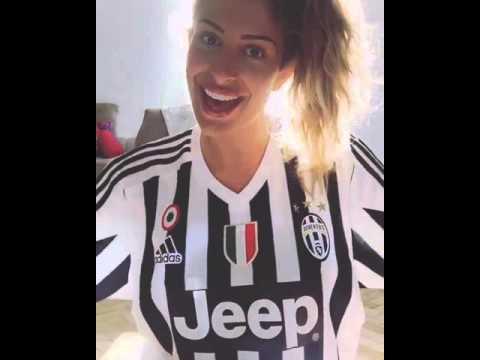 Valentina Allegri, figlia di Massimiliano, celebra lo scudetto della Juve