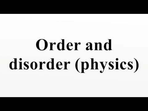Order and disorder (physics)