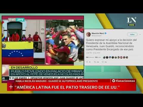 """Nicolás Maduro: """"El pueblo venezolano le dice NO al golpe de estado"""""""