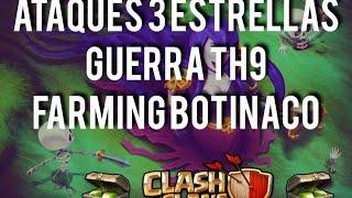 CLASH OF CLANS - COMO GANAR GEMAS GRATIS / FARMING / GUERRA / TH9 / SORTEO DE GEMAS / BOTINACO